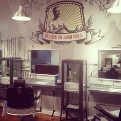 Awesome , industrial , edgy, barbershop.