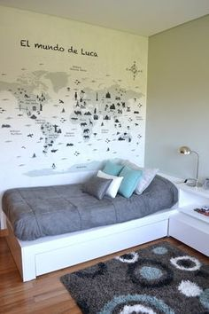 Thoughfull Blue Teenage Bedroom Design Decor - My Interior Design Ideas Teen Bedroom, Home Bedroom, Bedroom Decor, Design Bedroom, Bedroom Ideas, Awesome Bedrooms, New Room, Room Inspiration, Small Spaces