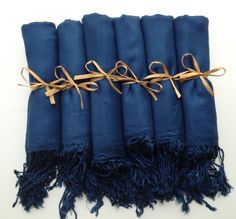 Navy Blue Shawls, Pashmina, Scarf, Wedding Favor, Bridal Shower Gift, Bridesmaids Gift, Wraps, Welcome Bags, Wedding Keepsakes. $9.50, via Etsy.