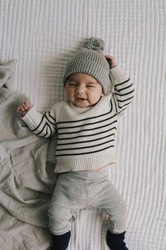 2af7fc8702e Stripe Knit - Oatmeal Marle. Baby Boy ...