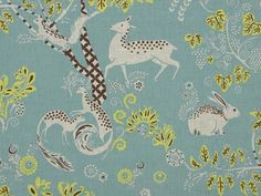 pretty animal nursery fabric