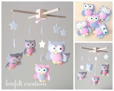 Baby mobile  Owl mobile  Baby Girl by LoveFeltXoXo, $135.00.... I think I might try to make my own, this is a bit pricey!!!