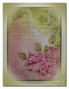 Hi there,     Today I will show you several samples of the ' painted rose' cards which are made for the workshop at the Posthumus ...