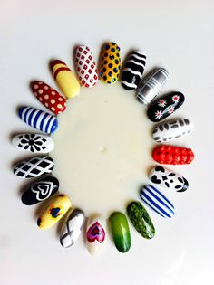 Moschino SS13 inspired nails...  By Me :)