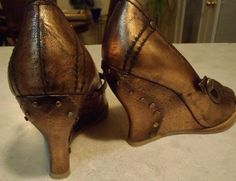 Back side . Nine west steam punks baby ! Shoes from my collection