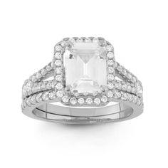 Gioelli Designs 10k Gold 3 3/8ct TGW Cubic Zirconia 2-piece Bridal Set Ring