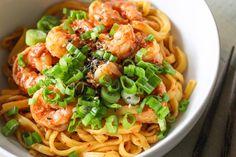 Spicy Miso Garlic Shrimp Noodles