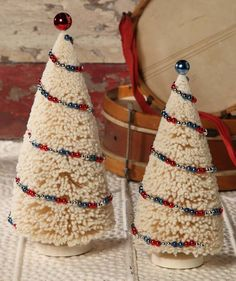 Americana Bottle Brush Trees | Patriotic Bottle Brush Trees | 4th of July