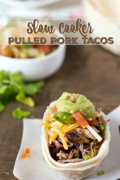 Slow Cooker Pulled Pork Tacos