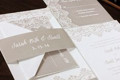 affordable thermography wedding invitations, completely customizable! Blush Paperie
