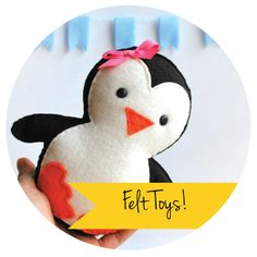 Felt plush toys can be made with #Polymat #Felt. Visit Bargainshore.com for GREAT deals on big rolls of felt