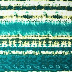 Teal Blue Yellow Tie Dye Rows Cotton Jersey Blend Knit Fabric.  master bedroom?