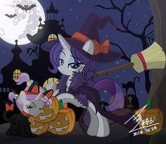 Mlp, Rarity, Nightmare Night, Red Streaks, Sweetie Belle, Fanart, Dc Comic Books, Pony Drawing, My Little Pony