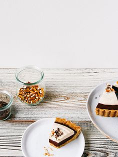 Chocolate mousse pie with peanut butter whip + pretzel crust by Ashlae | oh, ladycakes, via Flickr