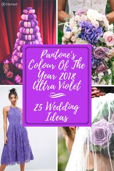 25 Gorgeous Ways To Include Pantone's Colour Of The Year 2018 Ultra Violet In Your Wedding  Pantone have announced that Ultra Violet is their Colour Of The Year for 2018 and it's a gorgeous bright purple hue that works perfectly as an accent to your wedding colour scheme. See our on-trend Ultra Violet ideas for everything from your bouquet to stationery, flowers and bridesmaids dresses.