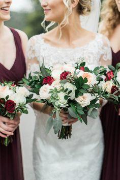 Classic wedding bouquet: http://www.stylemepretty.com/2017/04/24/classic-and-romantic-fall-wedding/ Photography: Katie Stewart - http://www.katiestewartphotography.com/