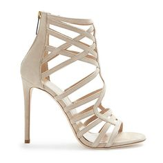 Tamara Mellon - Goddess Suede Sandal - Nude - 39.5/9.5 (€695) ❤ liked on Polyvore featuring shoes, sandals, heels, sapatos, apparel & accessories, heeled sandals, nude heel shoes, nude sandals, strap sandals and multi color shoes