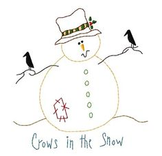 Crows in the Snow-outline