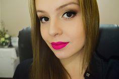 Beautiful Make Up: Tutorial de maquiagem dourada + batom pink