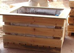 The completed wicking bed Good easy instructions