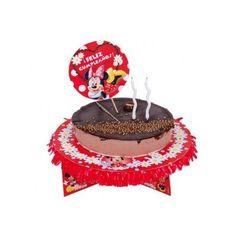 Ya hemos recibido las bases para decorar tartas de Minnie Mouse. Incluyen la blonda, unas patitas decoradas de cartón, y un adorno redondo para colocar en la tarta. Tambien tenemos cápsulas para cupcackes con picks