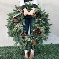 "littlest-folks: "": ""As promised, I am selling wreaths, garlands and potted flowers for the Holidays! Click the link in my bio to get to my holiday shop! Orders available for pick up on Monday, Nov in Bluffdale, UT. I am also available for custom. Christmas Mood, Merry Little Christmas, Noel Christmas, All Things Christmas, Christmas Crafts, Decorations Christmas, Holiday Wreaths, Holiday Decor, Corona Floral"