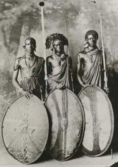 Afrika Maasai Warriors ca. 1900