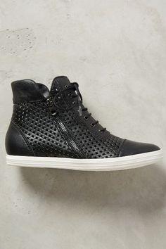 All Black Hi Top Perf Sneakers - anthropologie.com