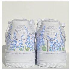 Dr Shoes, Nike Shoes Blue, Cute Nike Shoes, Nike Air Shoes, Hype Shoes, Air Force One Shoes, Nike Air Force Ones, Custom Painted Shoes, Custom Shoes