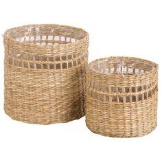 2 cache-pots en fibre végétale