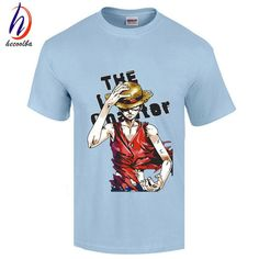 One Piece T shirt 2017 Fashion Japanese Anime Clothing Back Color Luffy Cotton T-shirt For Man And Women,Brand Camiseta,GT446