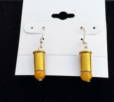 Yellow Jasper Bullet Earrings Bullet Earrings by blazingembers