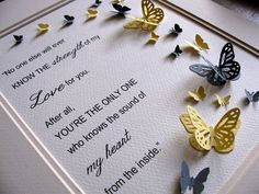 3D Butterfly Word Art. Strength of My Love by aboundingtreasures, $40.00