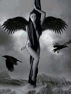 Fallen of angel Dark Angels, Angels And Demons, Fallen Angels, Dark Fantasy Art, Dark Art, Gothic Angel, Gothic Fairy, Gravure Photo, Angel Artwork