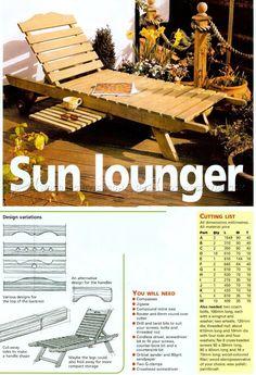 DIY Sun Lounger - Outdoor Furniture Plans Outdoor Plans
