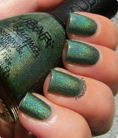 Nubar Reclaim #nubar #holographic #nails #green #smalto #nailpolish…