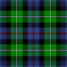 The Mackenzie tartan, otherwise known as the regimental tartan of the Seaforth Highlanders. Photo credit