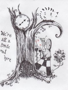 alice in wonderland drawing ideas - Google Search