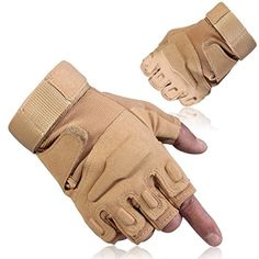 GOWINGLD Outdoor Sports Half Fingerless Riding Military Tactical Airsoft Hunting Armed Protection Gloves -- Click on the image for additional details.Note:It is affiliate link to Amazon.