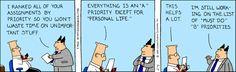 Prioritizing - The Dilbert Strip for February 4, 1995