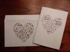 Bruiloft kaart en envelop