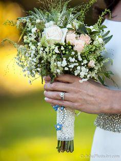 creative wedding bouquet, brooch Wedding Bouquets, Wedding Flowers, Creative Wedding Photography, Album Design, Arizona, Brooch, Wedding Ideas, Table Decorations, Flagstaff Arizona