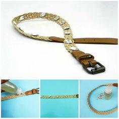 Easy DIY Belt Decor Idea  #diybelt #diy #belt Diy Belts, Designer Belts, Diy And Crafts, Easy Diy, Diy Projects, Personalized Items, Accessories, Ideas, Decor
