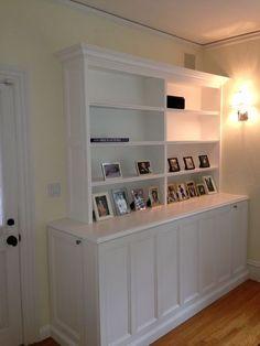 tv lift cabinet shelves
