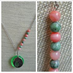 Shop for on Etsy, the place to express your creativity through the buying and selling of handmade and vintage goods. Bold Necklace, Turquoise Necklace, Beaded Necklace, Handcrafted Jewelry, Unique Jewelry, Resin Pendant, My Etsy Shop, Charmed, Bright