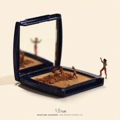 Le directeur artistique et photographe japonais Tatsuya Tanaka s'est attaqué à un projet colossal en créant un univers miniature quotidiennement. Tatsuya T