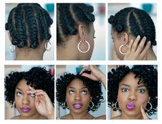 bantu knots on natural hair   ... Twist Out Tutorial and Bantu Knots on Natural Hair The Feisty House