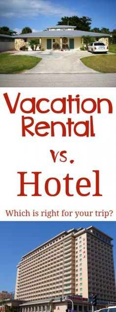 nice Vacation rental or hotel stay? A look at the pros and cons of each so you can travel smart on your next trip. CONTINUE READING Shared by: tripswithtykes Disney Vacations, Vacation Destinations, Vacation Trips, Vacation Rentals By Owner, Travel Tips, Travel Hacks, Travel Stuff, Travel Ideas, Getaway Cabins