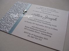 boys christening handmade invitations - Google Search