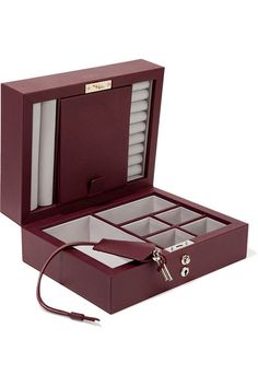 7afc077c6524 Smythson - Grosvenor textured-leather jewelry box